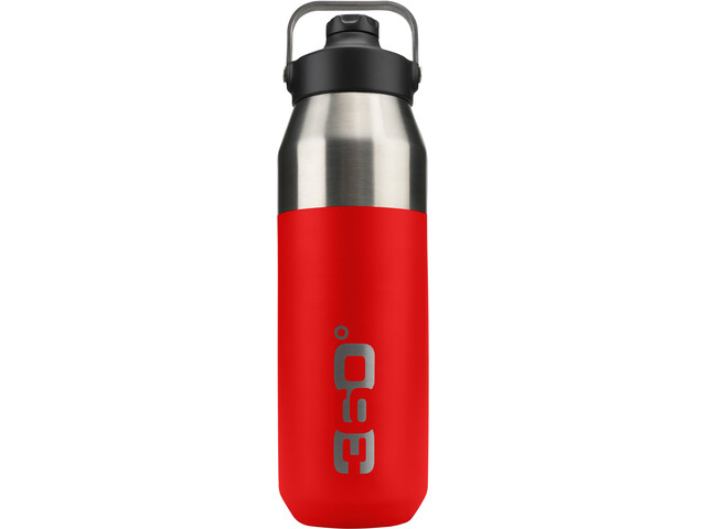 360° degrees Wide Mouth Insulated Drink Bottle with Sipper Cap 750ml, red